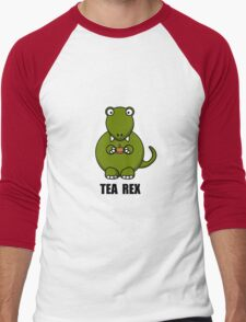 Tea Rex Dinosaur Men's Baseball ¾ T-Shirt