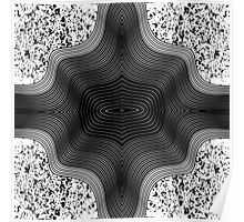 Black and White Contemporary Geo Abstract Art Poster