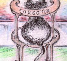 Cat- Director Sticker