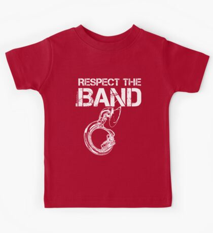 Respect The Band - Sousaphone (White Lettering) Kids Tee