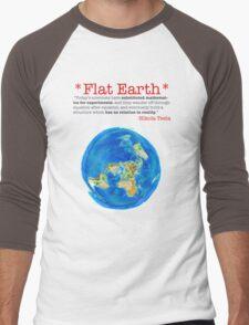 Flat Earth Tee Shirts & More! Men's Baseball ¾ T-Shirt