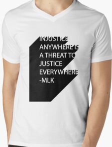 MLK Quote Text Mens V-Neck T-Shirt