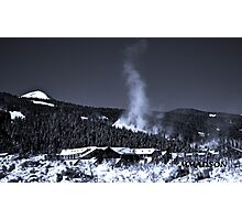 Snow Clouds - Mountain Ski Town Photographic Print