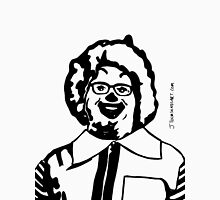 Realistic Ronald McDonald Clown Black and White JTownsend Unisex T-Shirt