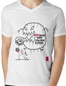 College Kid Struggles Mens V-Neck T-Shirt