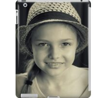 Girl With Hat iPad Case/Skin