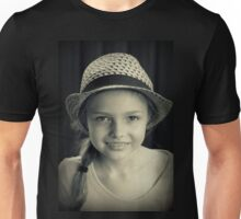 Girl With Hat Unisex T-Shirt