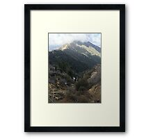 To touch the clouds Framed Print
