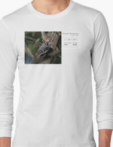 Bird Book Apparel - Nuttall's Woodpecker ♂ Long Sleeve T-Shirt