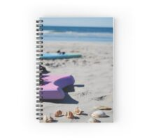 Boogie boarding on the beach Spiral Notebook