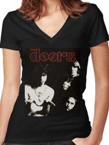 doors Women's Fitted V-Neck T-Shirt