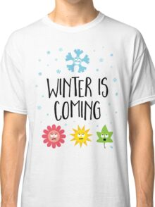 Winter is Coming - Seasons (stacked) Classic T-Shirt