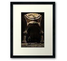 Armenian cave monastery adventure Framed Print