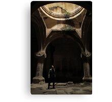 Armenian cave monastery adventure Canvas Print