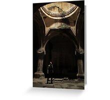 Armenian cave monastery adventure Greeting Card