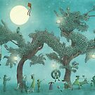 The Night Gardener - Dragon Tree night option by Eric Fan
