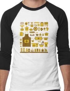 retro kitchenware Men's Baseball ¾ T-Shirt