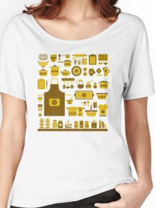 retro kitchenware Women's Relaxed Fit T-Shirt