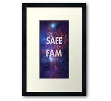 Safe Fam Framed Print