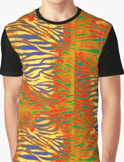 Psychedelic Jungle Cat Graphic T-Shirt