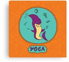 Shark yoga pose Canvas Print