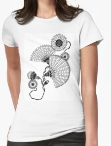 Daisies and Lines - 2 Womens Fitted T-Shirt