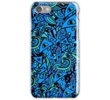 Colorful seamless pattern town houses with doodles.  iPhone Case/Skin