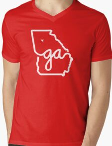 Georgia Pride Mens V-Neck T-Shirt