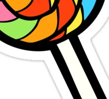Rainbow Lollipop Pattern Sticker