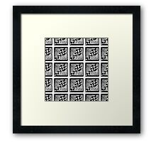 Abstract hand drawn black and white seamless pattern Framed Print