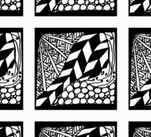 Abstract hand drawn black and white seamless pattern Sticker