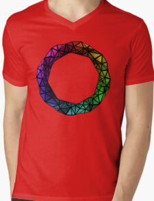 Colorful low poly ring Mens V-Neck T-Shirt