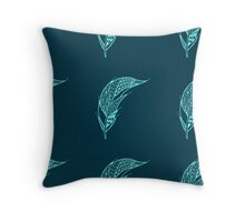 Seamless pattern with hand drawn feather  Throw Pillow