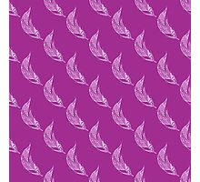 Seamless pattern with hand drawn feather Photographic Print