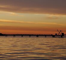 A Pier at Sunset by LinneaJean