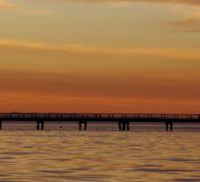 A Pier at Sunset Sticker
