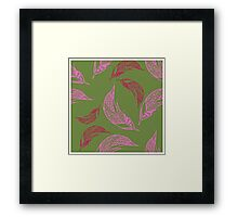 Seamless pattern with hand drawn feather Framed Print