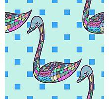 Seamless pattern with hand drawn bird Photographic Print