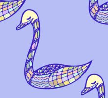 Seamless pattern with hand drawn bird Sticker