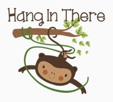 Wild Animals Monkey Hang in There Kids Tee