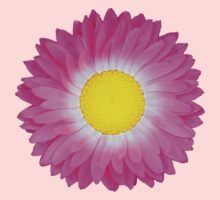 Pink and Yellow Daisy One Piece - Short Sleeve