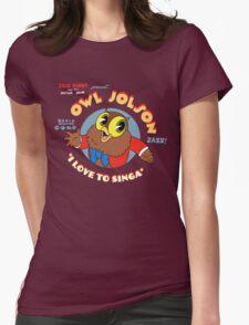 Owl Jolson Womens Fitted T-Shirt