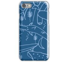 Geometric simple monochrome minimalistic marine pattern, sawfish ,stingray, swordfish , shark, hammerhead shark iPhone Case/Skin
