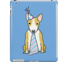 Party Hat Puppy Dog - English Bull Terrier iPad Case/Skin
