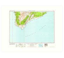 USGS TOPO Map Hawaii HI Hawaii South 349925 1962 250000 Art Print