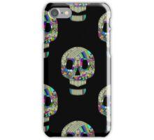 Colorful skulls on black background - seamless pattern.  iPhone Case/Skin
