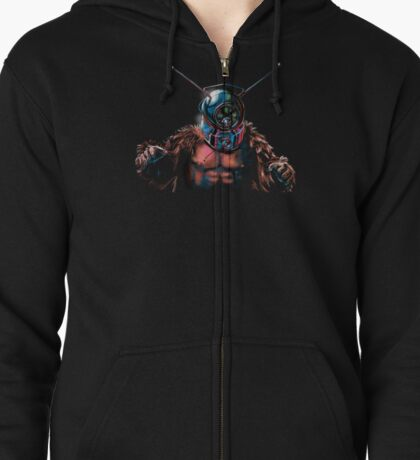 Ro-Man the Robot Monster Zipped Hoodie