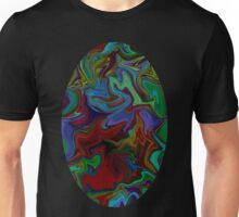 Marble texture in greens and reds Unisex T-Shirt