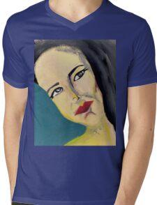 A Night Stare Mens V-Neck T-Shirt