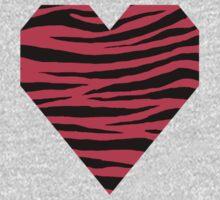 0562 Radical Red Tiger Kids Tee